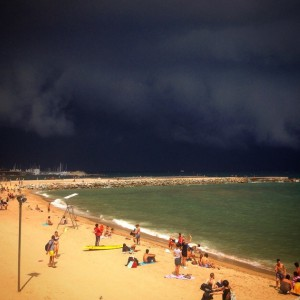 Storm over Barceloneta