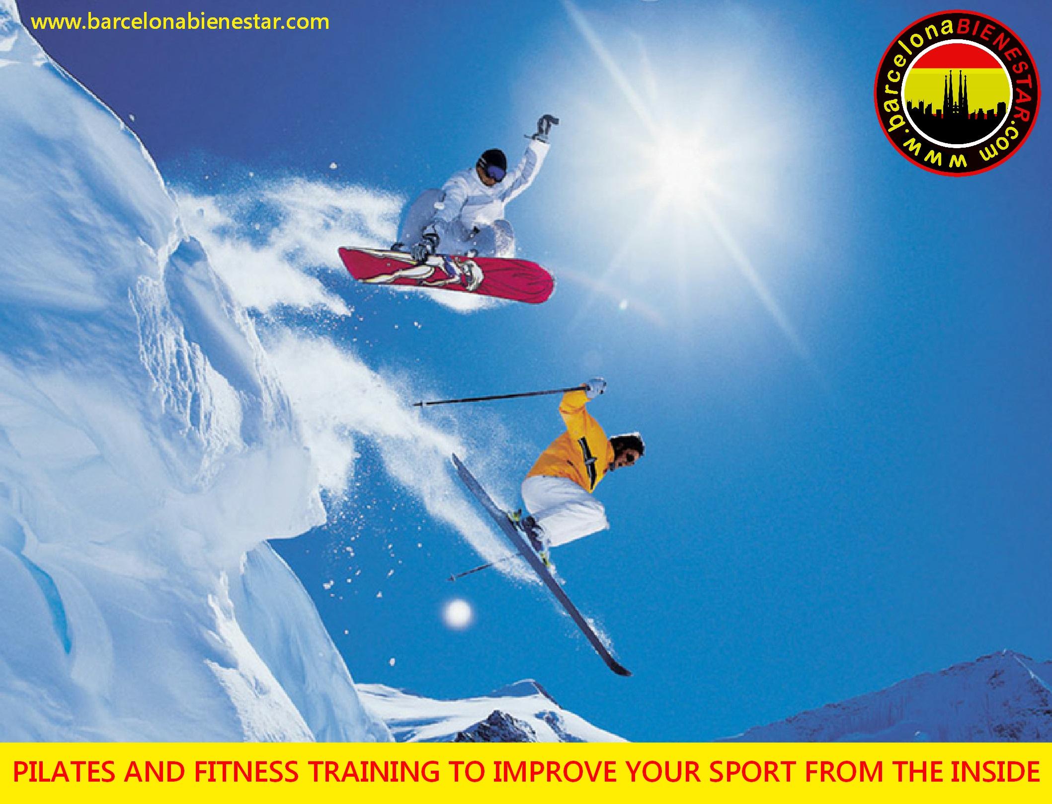 Pilates fitness skiing snowbaording barcelona bienestar
