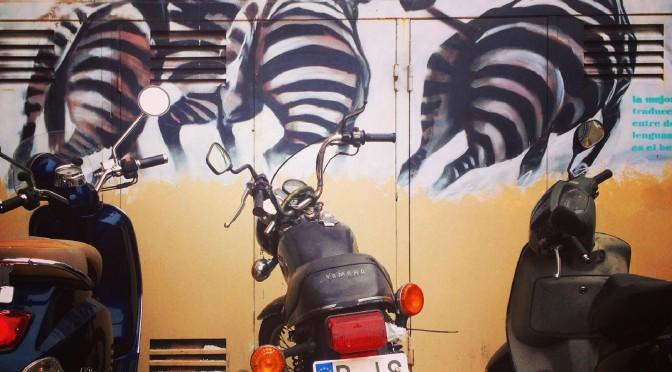 Barcelona Streetart/graffiti: Zebras